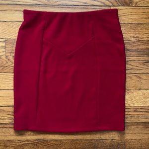 Red Forever 21 Ribbed Mini Skirt S